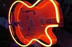 室内用飾りネオン ギター型
