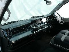 200ハイエースワイド エアロナビバイザー Ver1