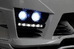 10アルファード ジュールフロントバンパー専用4灯式フォグランプキット(HID)