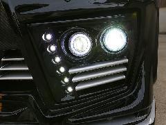 20ヴェルファイア 後期フロントバンパー専用4灯式フォグランプ(HID)&LEDデイライトキットVerB