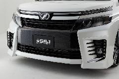 80VOXY ZSグレード純正フロントバンパー用ガーニッシュ(ブラックカーボン調)