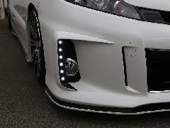 50エスティマ後期 アエラス純正バンパー用LEDデイランプキット 単色塗装済み
