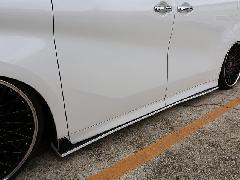 30アルファード Sグレード用 サイドフラップ FRP未塗装