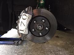 30アルファード専用 ブレーキキャリパーカバーVer4 ヘアライン仕様