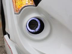 10アクア ジュール80φイカリング付きフォグランプインストールKIT HID