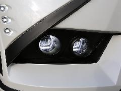 30ヴェルファイア ジュールフロントバンパー専用4灯式LEDファイバーフォグランプ