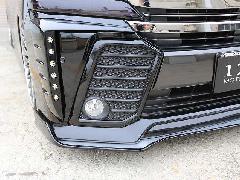 30ヴェルファイア Zグレード用 フォグランプフレーム(ABSソリッド艶有りブラック)