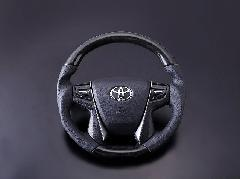 30アルファード・ヴェルファイア 最高品質 本革黒木目ステアリング