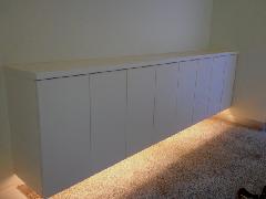 個人邸宅 間接照明付き下駄箱