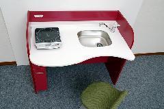 自立支援家具 アモーリスキッチン(W1200)