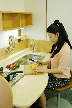 自立支援家具 アモーリスキッチン(W1500)