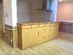 介護施設 キッチン前収納