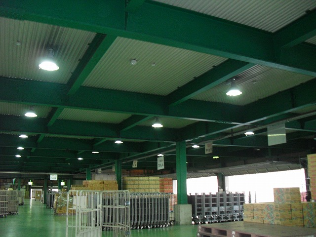 某倉庫LED照明取替え工事