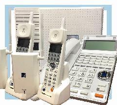 主装置 + コードレス電話機2台 + 固定電話機1台