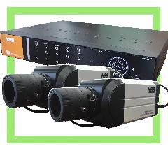防犯カメラ本体2台 + 録画装置