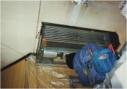 天吊タイプエアコン洗浄作業の流れ1