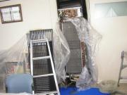 置形タイプエアコン洗浄作業の流れ1