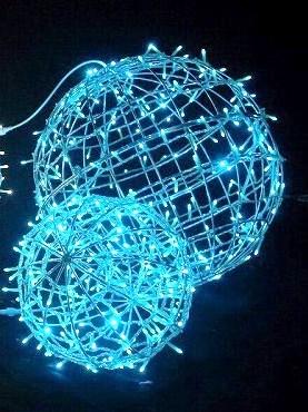 フレームボール 小 φ350 パステルブルー色 PBFRAMEBALL350