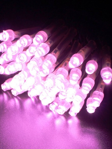 2芯LEDストリングライトVer.�U 2B100PPI2 パステルピンク ブラックコード・100球10M