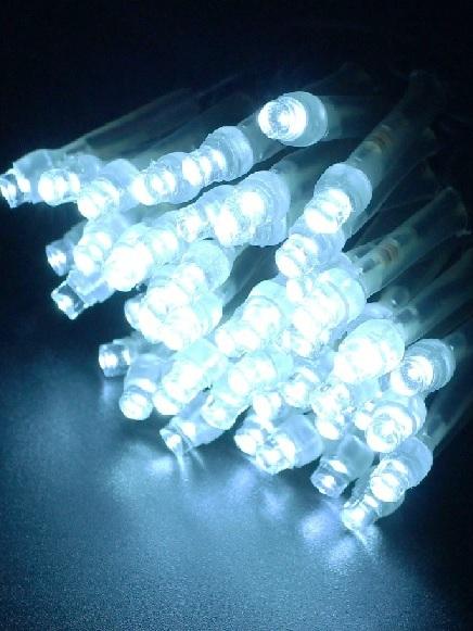 2芯LEDストリングライトVer.�U 2B100PB2 パステルブルー ブラックコード・100球10M