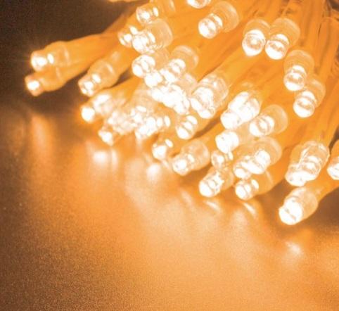 2芯LEDストリングライトVer.�U 2C100WW2 ウォームホワイト クリアコード・100球10M