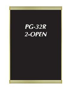 PG-32R ツーオープン B2 【515×728】 ポスターグリップ・屋内用