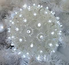 LEDクリスタルボールL LED-CR-B-200-W ホワイト Φ240mm