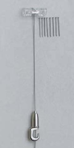 直付(C)ワイヤー吊・クリア M-350 0.5m 10kgまで