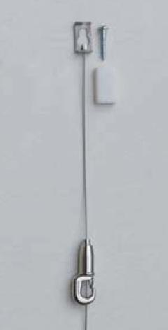 直付(C)ワイヤー吊・ストッパー付・木壁用 M-322 1.5m 10kgまで