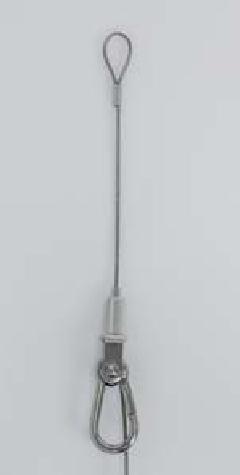 ベルク M-387 (長さ5M) ワイヤーフック ループ(R)ワイヤー吊 50kgまで ストッパー付