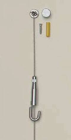 ベルク M-325 ワイヤーフック 直付(C)ワイヤー吊 30kgまで
