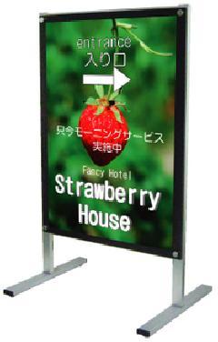 TOKISEI ポスター用メッセージスタンドA1片面  PSMS-A1KB(黒)