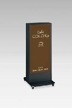 タテヤマアドバンス ADO-940N�UE-LED ブラック+ パンフレットラック 大 【1個】 アドフレームサイン・LED電飾スタンド【屋外・両面】