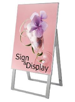 TOKISEI ワンタッチポスタースタンド看板 A1縦 片面 DOYA1-A1K 【屋内】