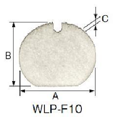 日東工業 WLP-F10 【10枚で1セット】 ルーバー用オプション・フィルタ