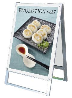 TOKISEI PSSK-A1RW(ホワイト) ポスター用スタンド看板 A1 両面