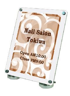 TOKISEI CUWS-A3T カウンターホワイトスタンドA3縦