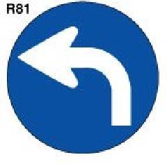 スーパーロードポップ用面板 上部レギュラー面板(丸)  SR-81 左矢印【P124】 124G-43487R81