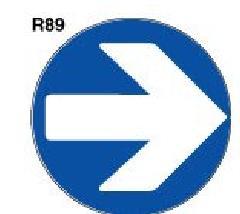 スーパーロードポップ用面板 上部レギュラー面板(丸)  SR-89 右矢印【P124】 124G-43487R89