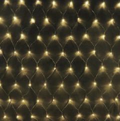 LEDネットライト180球 シャンパンゴールド・ブラックコード SGNET180B 横幅2400mm P81