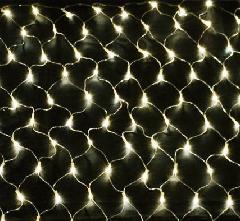LEDネットライト180球 パステルシャンパン・クリアコード PSNET180C 横幅2400mm P81