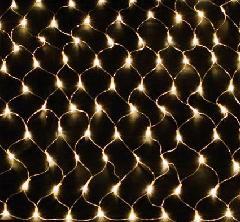 LEDネットライト180球 ウォームホワイト・クリアコード WWNET180C 横幅2400mm P81