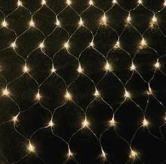LEDネットライト180球 シャンパンゴールド・クリアコード SGNET180C 横幅2400mm P81