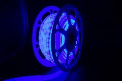 13mm 2芯丸型ネオンロープライトスリム型 ブルー色 13NEONROPEB 20m