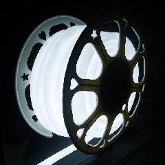 13mm 2芯丸型ネオンロープライトスリム型 ホワイト色 13NEONROPEW 20m