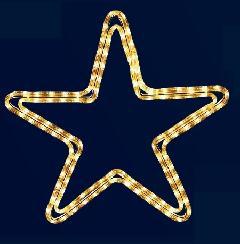 ロープライト スター(小) SGROPESTARS シャンパンゴールド色 W480×H480mm