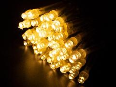 2芯LEDストリングライトVer.�U 2B100WW2 ウォームホワイト ブラックコード・100球10M