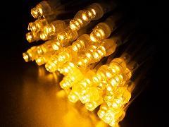 2芯LEDストリングライトVer.�U 2B100SG2 シャンパンゴールド ブラックコード・100球10M