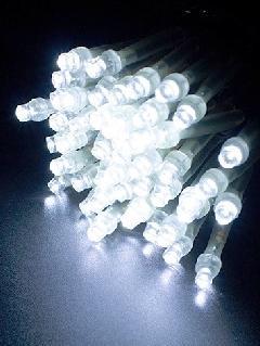 2芯LEDストリングライトVer.�U 2B100CW2 クリスタルホワイト ブラックコード・100球10M