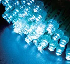 2芯LEDストリングライトVer.�U 2C100PB2 パステルブルー クリアコード・100球10M